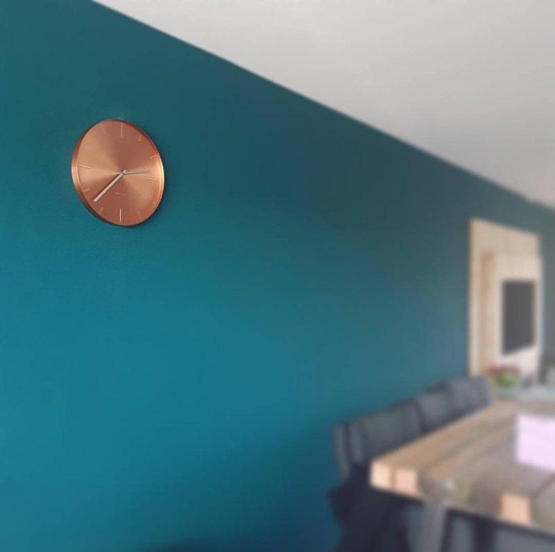 荷蘭Karlsson, Wall clock Belt copper plated, design Studio