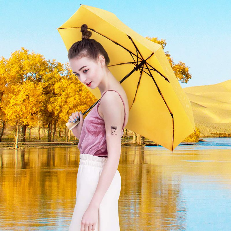 Boy 易收版自動開收雨傘 - BY3073 黃色