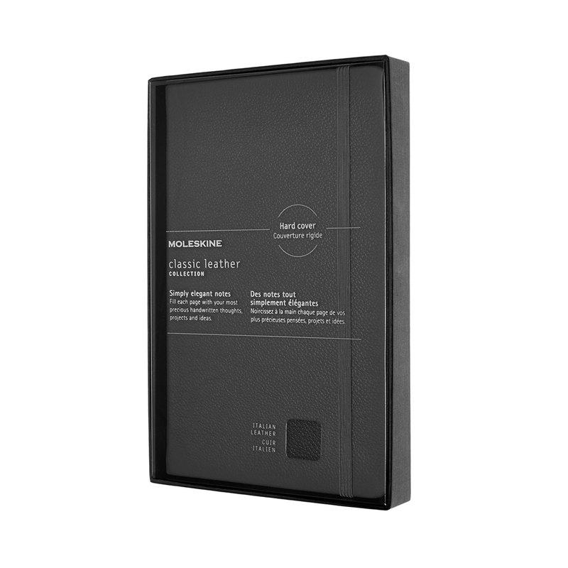 MOLESKINE 經典皮革硬殼筆記本禮盒 - L 型 - 橫線黑