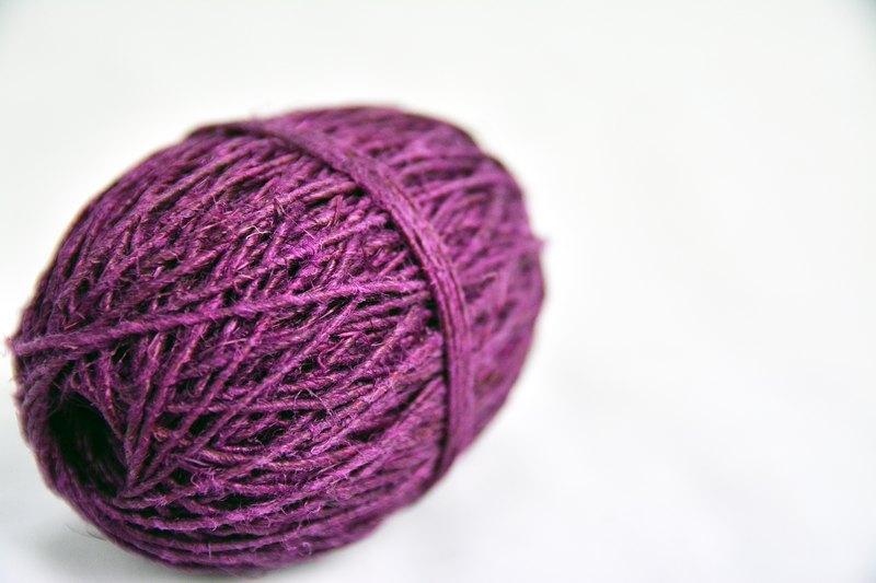 手捻麻線-深紫-公平貿易