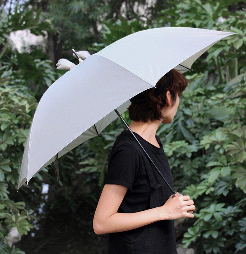 簦泇/墨綠色防曬黑胡桃原木可愛晴雨小耳朵雨傘晴雨傘