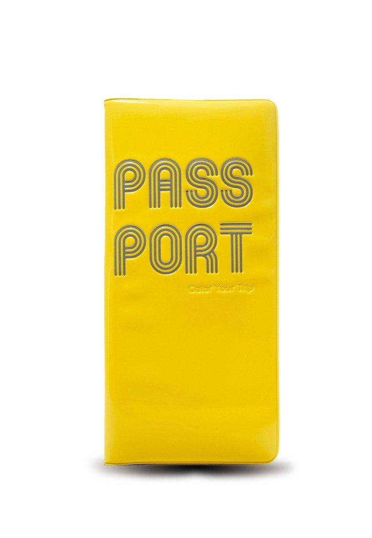 登機證護照套 - 黃色
