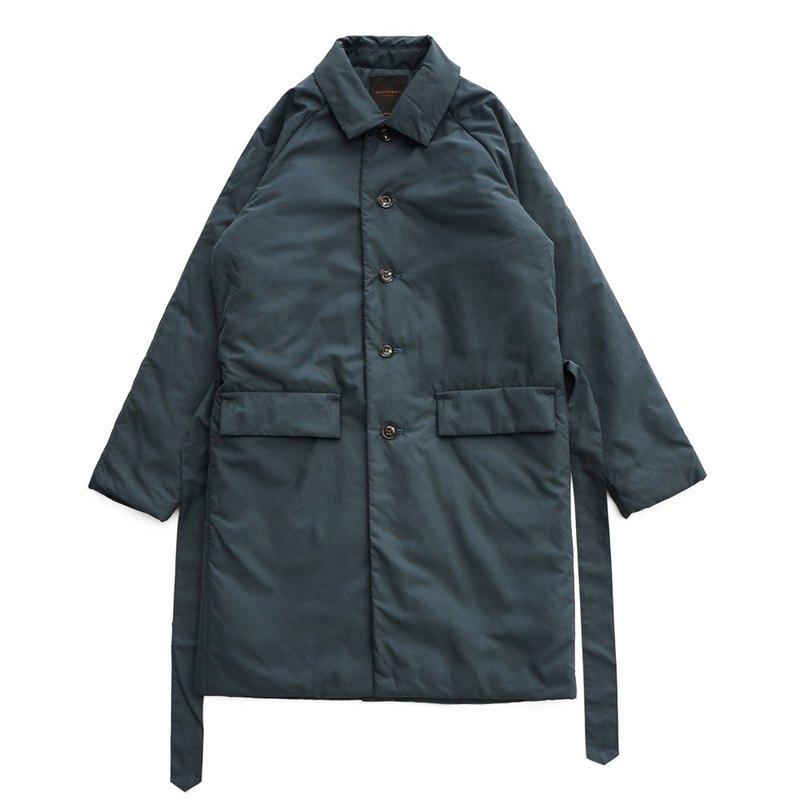 鋪棉長版大衣 shopcoat