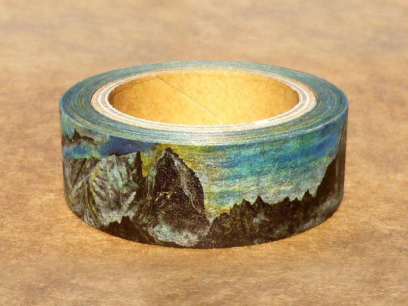 ✐ Liuyingchieh ✐ 美岩collection = 和紙膠帶 Washi Masking Tape 15 mm x 10 m 原創山水風景紙膠帶.旅行寫生