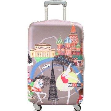 LOQI 行李箱套│莫斯科【M 號】