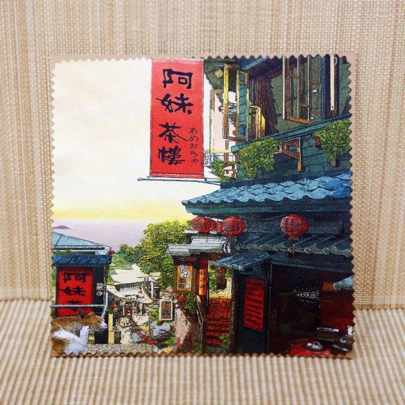 【台灣藝術家-林宗範】擦拭布-小城故事