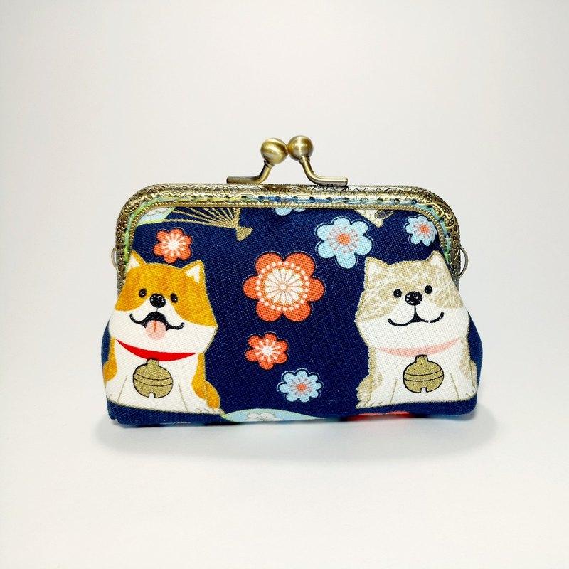 【柴柴過新年-藍】口金包 零錢包 手拿包 聖誕交換禮物