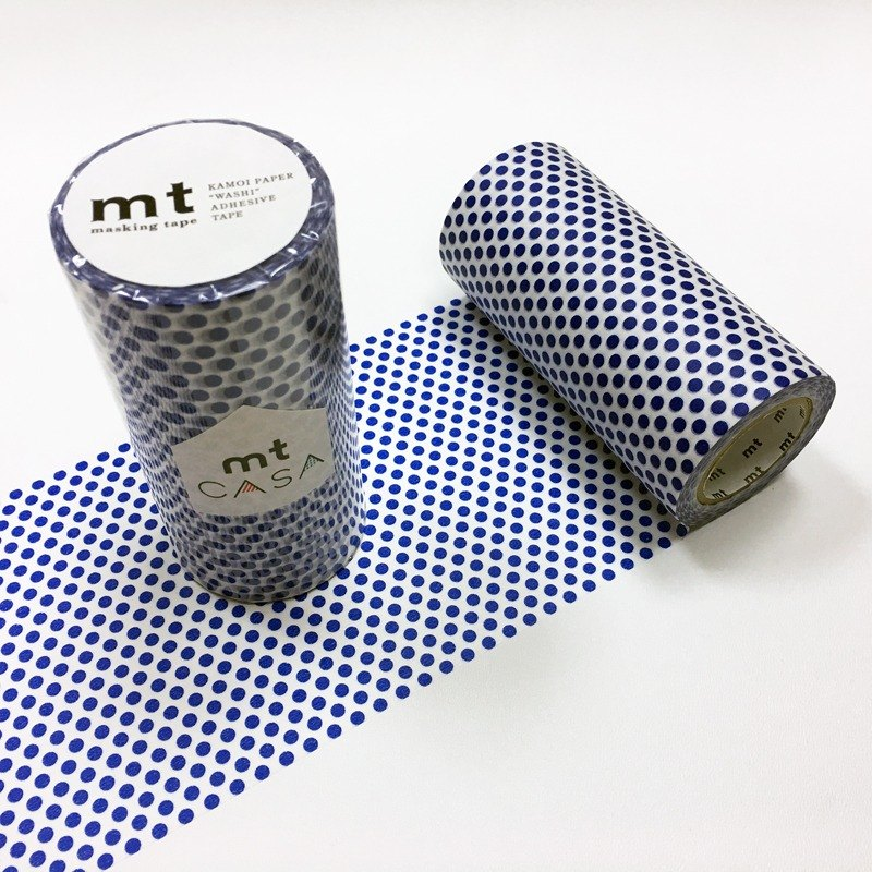 mt CASA tape 100mm和紙膠帶【水玉點點-夜色藍 (MTCA1102)】