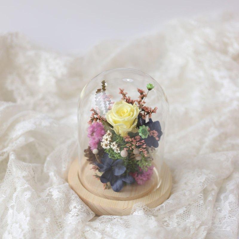 瓔珞莊園*S18*玻璃罩盅/永生花 乾燥花/交換禮物/情人節/送禮首選