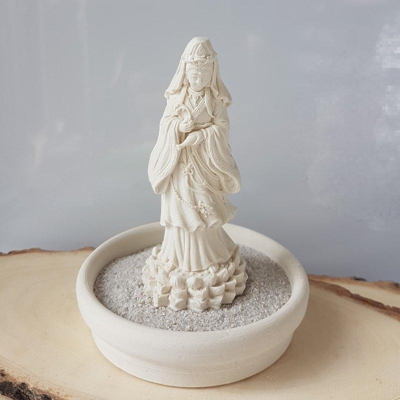 淨念吉祥小佛之立像觀音  擴香石  含小盤和沙