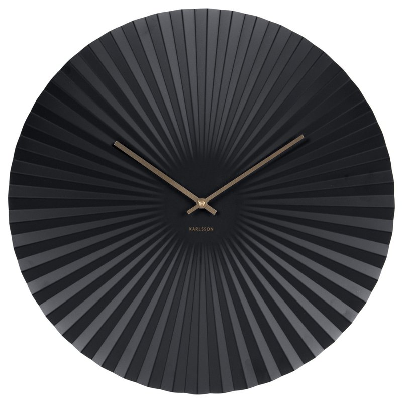 荷蘭Karlsson Wall clock Sensu steel black 黑色放射設計掛鐘