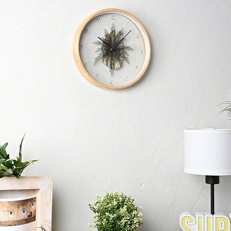 Botanica Depot-  觀葉植物 靜音 掛鐘 時鐘 (自然)