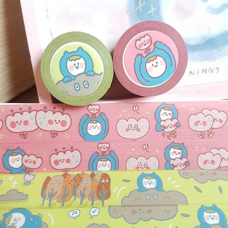 Ning's-寬版紙膠帶 兩捲一起買、粉色售完