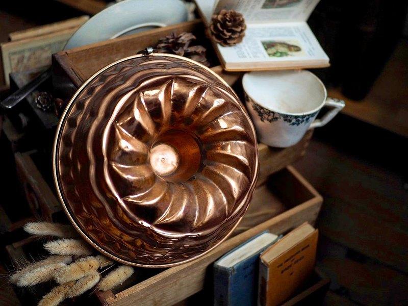 英國1930年古董紅銅烤模
