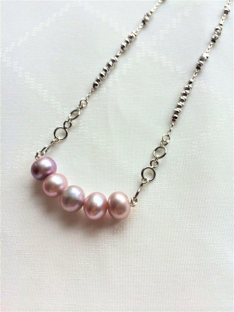 100%自家設計925純銀紫色淡水珍珠吊咀