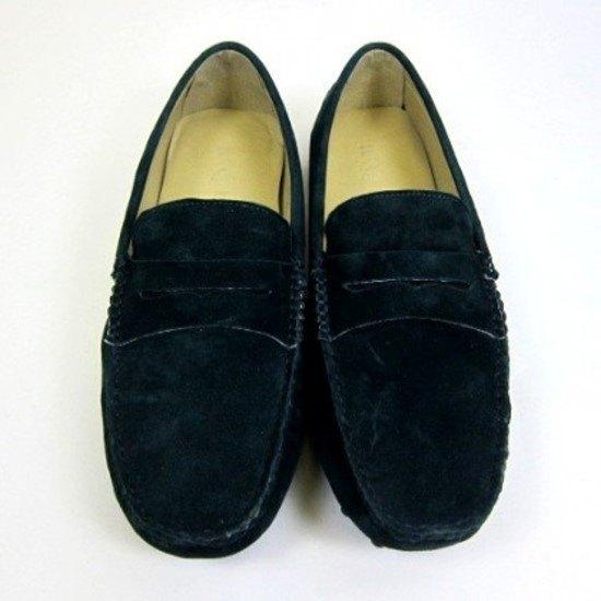 堡貝王真皮手工鞋(男) 羊皮室外鞋【磨砂/豆底/墨綠】
