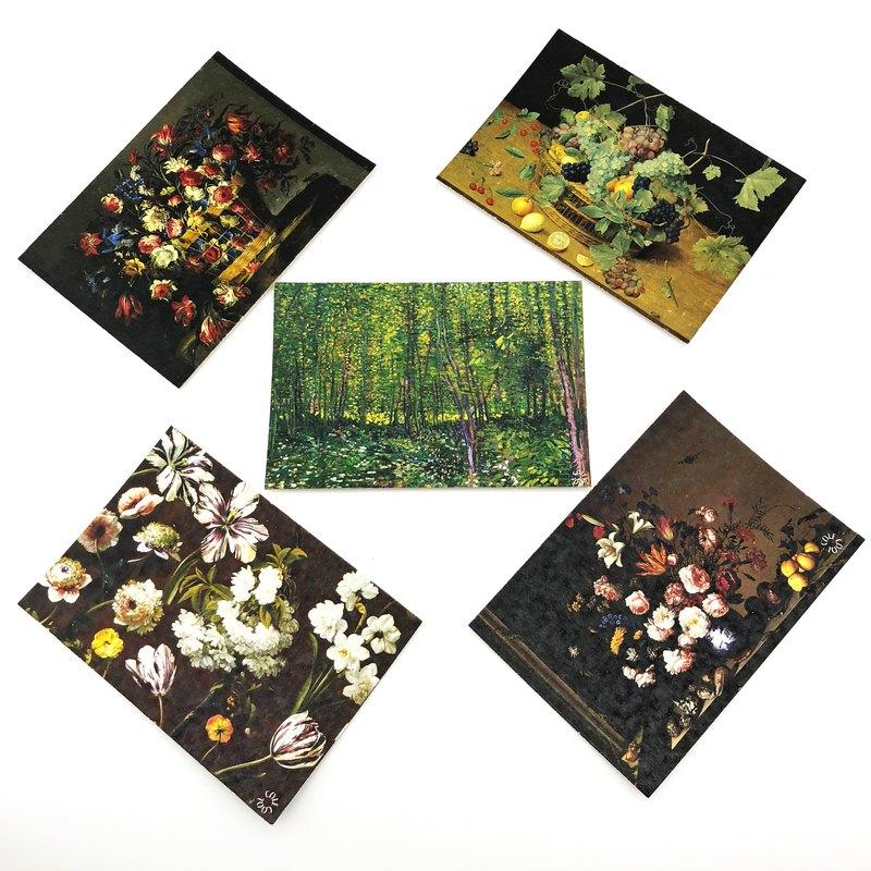藝術新年明信片 花卉postcards 藝術 生活是藝術 情人節心意卡
