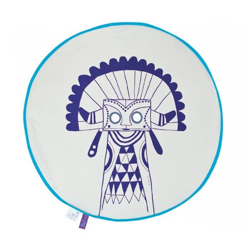 BU! BLANKIE 躲貓貓有機棉毯–印地安藍(藍邊) Indian Blue/Blue