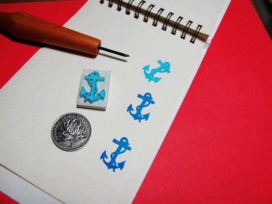 Apu手工章 海洋鐵錨印章 手帳印章