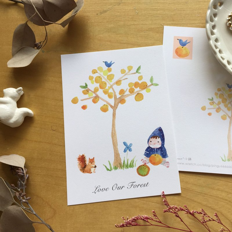 Zoe's forest橘子樹明信片 cs04