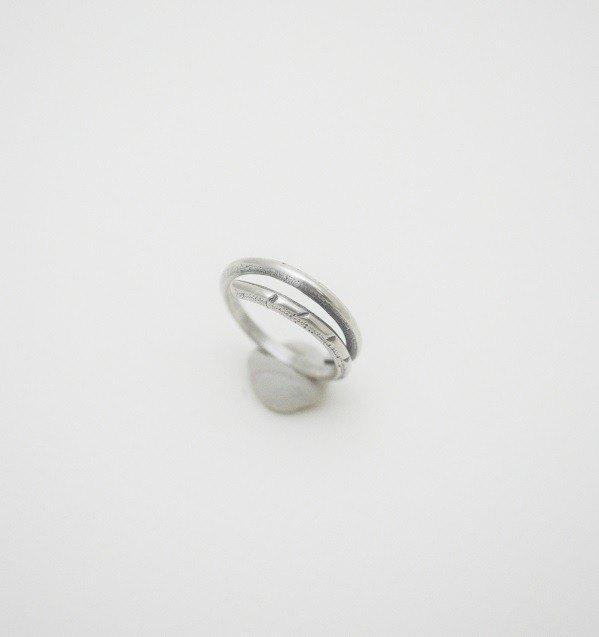 環繞系列-1號‧多環純銀戒指