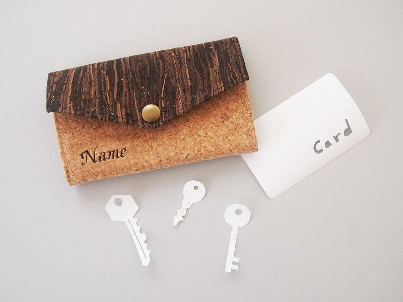 Paralife軟木 鑰匙包  鑰匙 鑰匙圈 工作證 信用卡 包含刺繡名字