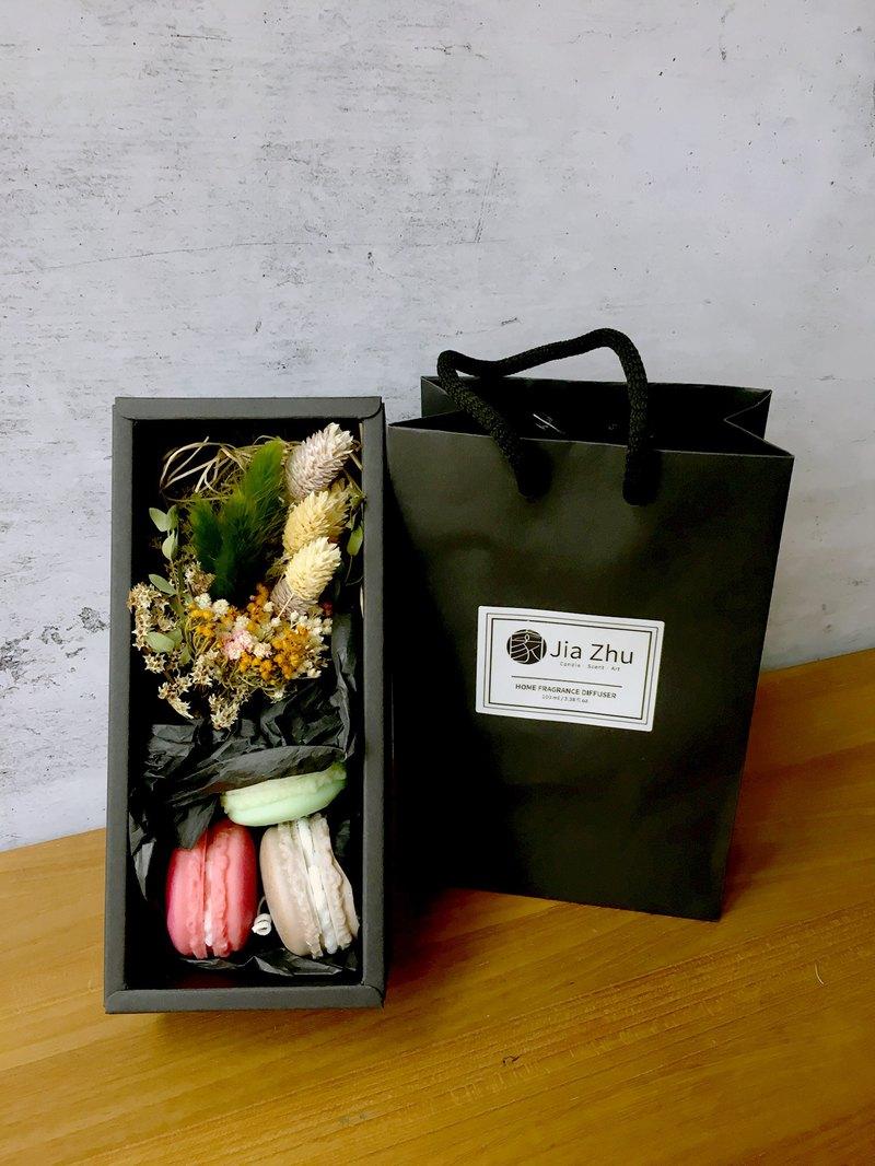 天然大豆馬卡龍蠟燭禮盒