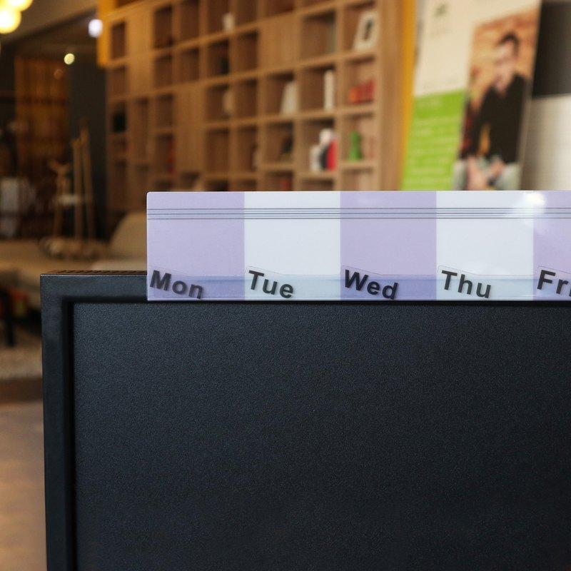 【歐士OSHI】電腦螢幕留言備忘板-週計畫(紫) 辦公桌收納