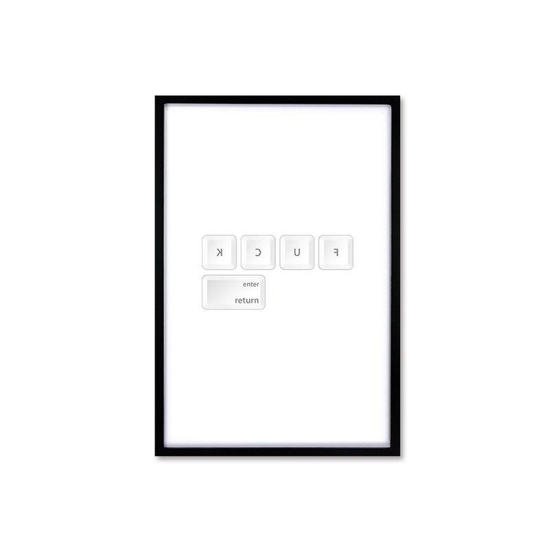 HomePlus 北歐風裝飾畫相框 FUCK 時尚款 黑色框 63x43cm 室內設計 布置 擺設 畫框 照片牆 創意 壁貼
