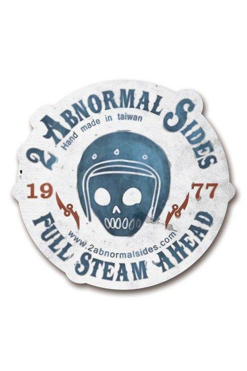 Helmet Skull 2AS Brand Sticker  安全帽骷髏2AS品牌防水抗UV貼紙(圓)