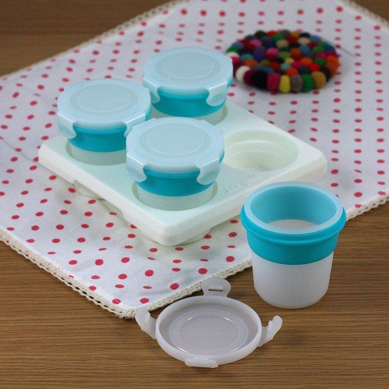 2angels 矽膠副食品零食儲存杯(附杯架) 120ml