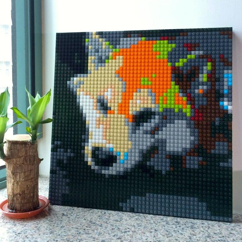 訂製DIY樂高化積木畫馬賽克 40cm x 40 cm
