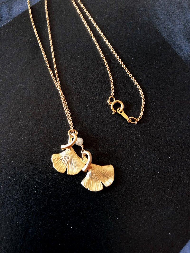 Ginkgo銀杏項鍊│14kgf 銀杏 項鍊 秋天 黃色 母親節禮物 女生 花