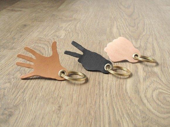 包x剪x槌皮革黃銅鑰匙圈吉他Pick皮革套(3件組/自選不同颜色配搭)