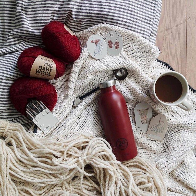 意大利24Bottles【CLIMA冷熱保溫系列】波爾多紅 - 500ml不鏽鋼瓶