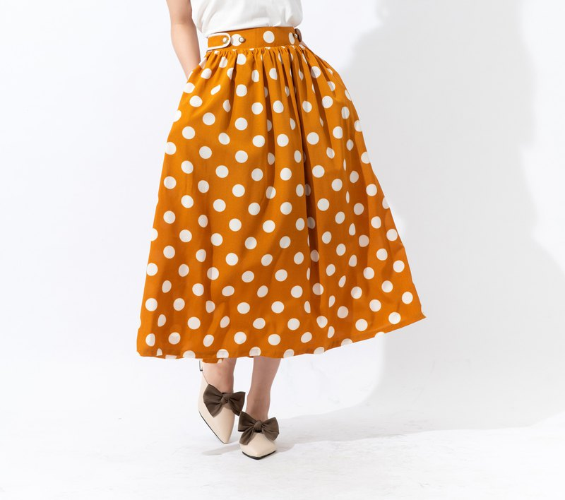 【joliememe】波卡圓點中長裙Polka Dot Skirt