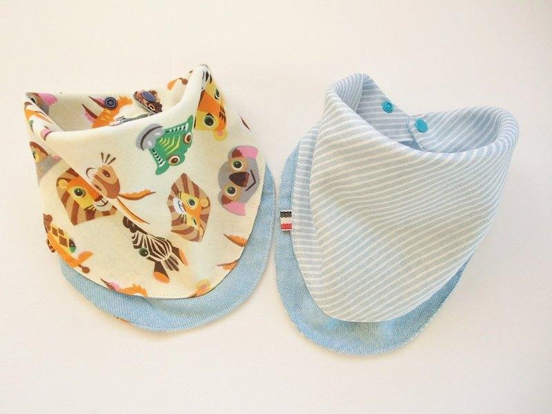 嬰兒圍嘴2件套,可逆,嬰兒無限圍巾圍嘴,嬰兒頭巾圍嘴,超柔軟