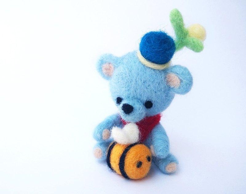 針刺藍熊和蜜蜂