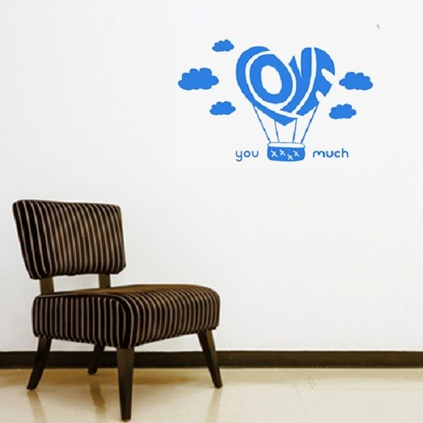 《Smart Design》創意無痕壁貼◆love 氣球