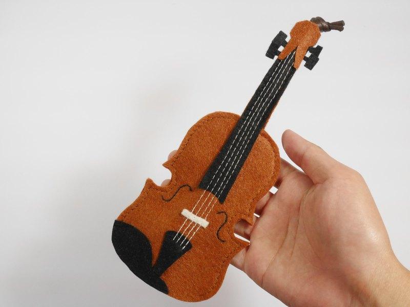 樂器造型鑰匙包-小提琴
