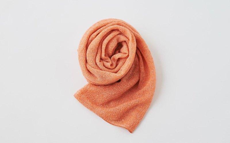 馬海毛針織亞麻攤位橙色