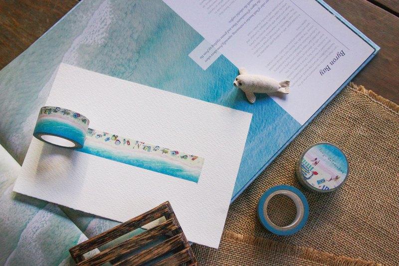 夏末海の限定款 - 藍色假期   海泳 夏日 啾吉水彩手繪紙膠帶