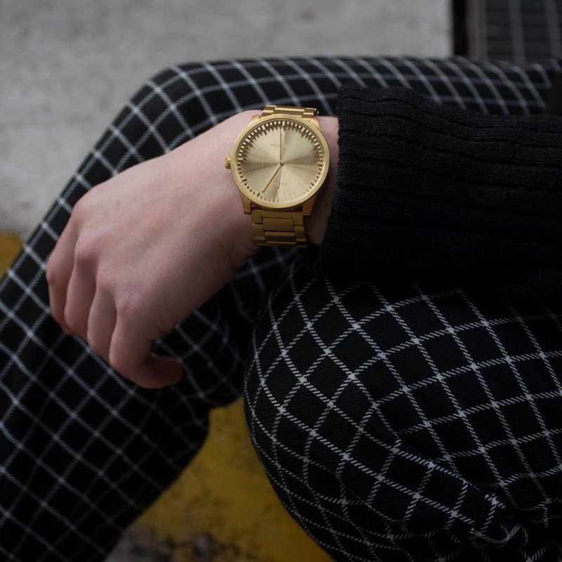 LEFF amsterdam tube 北歐工業齒輪設計真皮腕錶 (42mm, 黃銅)