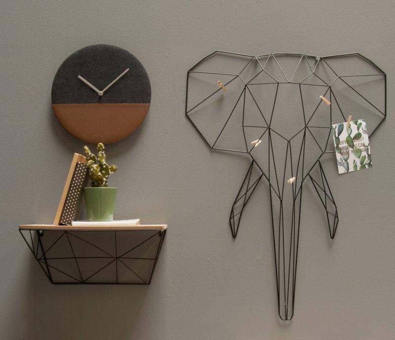 荷蘭Karlsson wall clock leather jeans grey 牛仔布皮革掛鐘