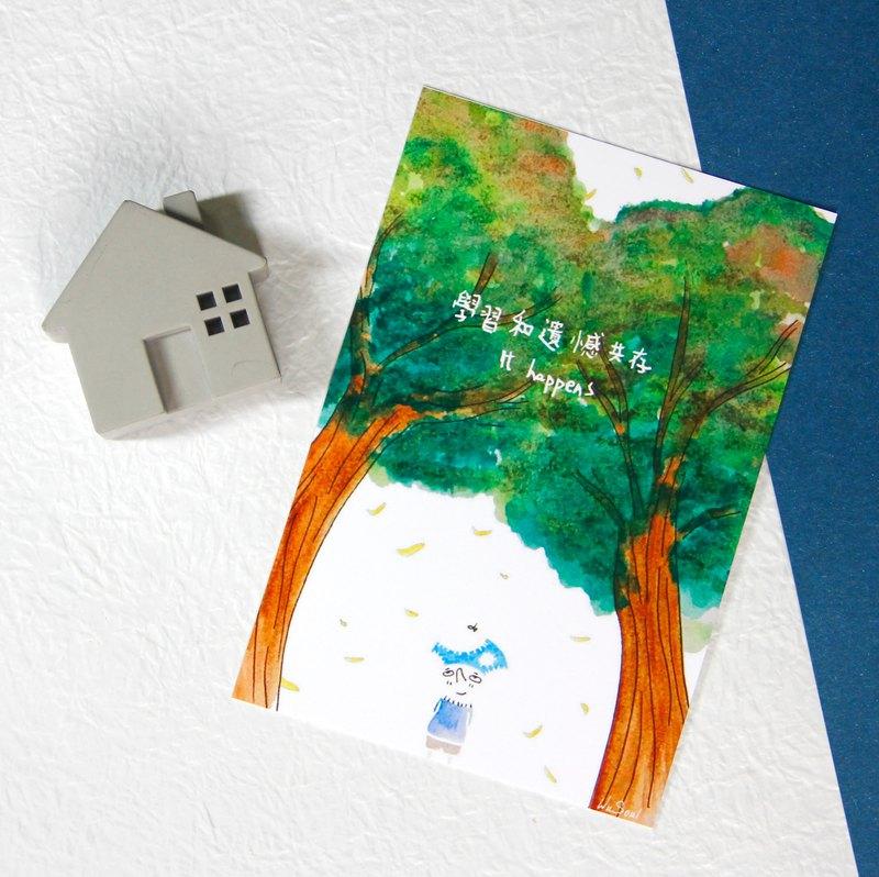 心靈 語錄 明信片 Postcard - 學習和遺憾共存