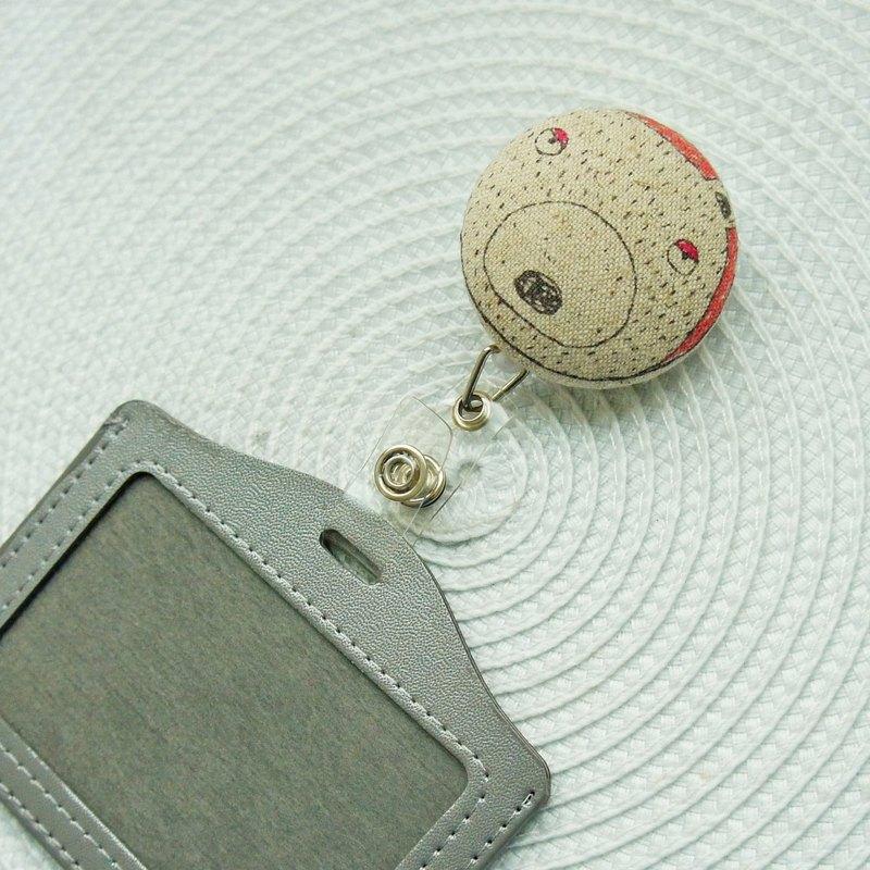 Lovely【日本布】愛睡熊伸縮扣環 +卡套、悠遊卡、證件套