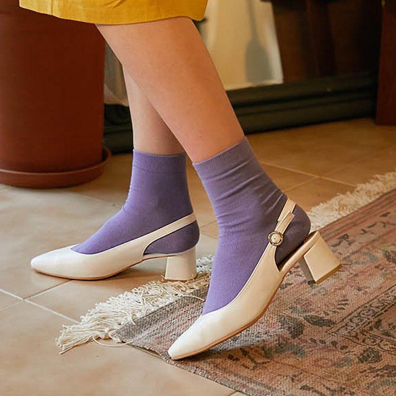 韓國人手製 MACMOC Nana (WHITE) 不到200g超輕高跟鞋