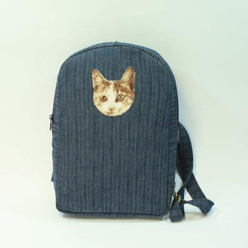 刺繡 單肩背包 側背包 03-貓