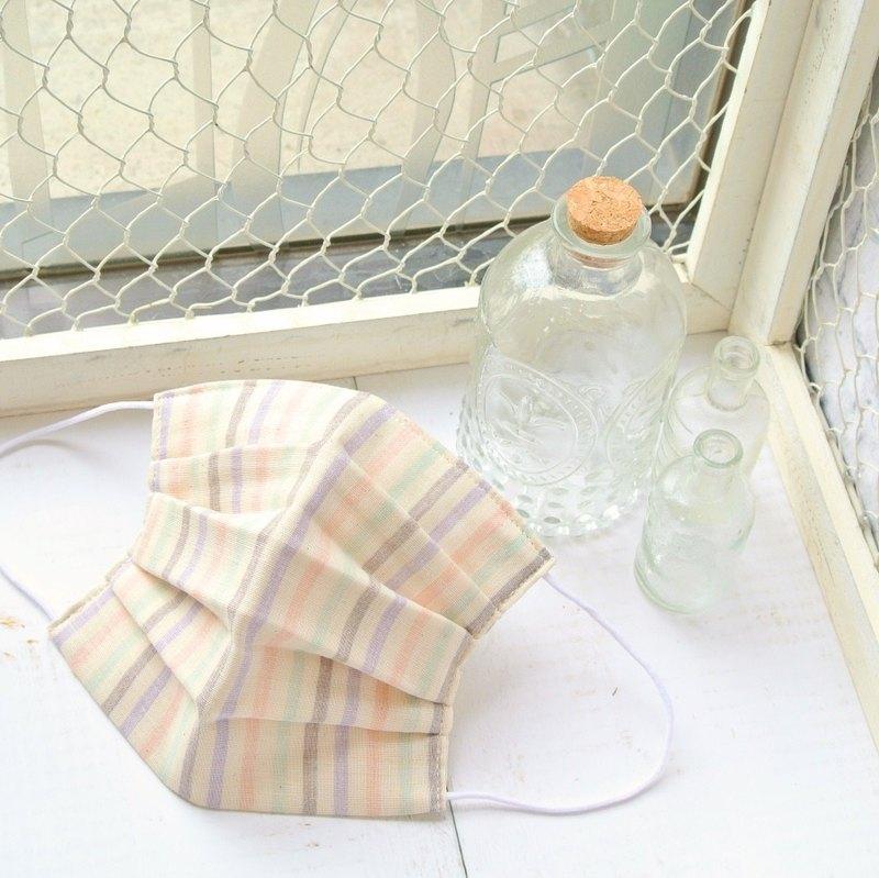 多色 手工立體口罩 可洗滌 日本製純棉二重紗布 粉紅色 紫色 成人