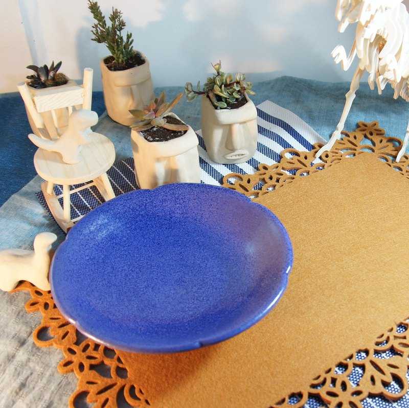 薰衣草大陶盤,餐盤,菜盤,水果盤,點心盤-直徑約19.1公分